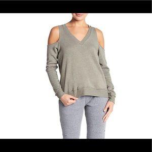 Alternative Apparel Cold Shoulder Sweatshirt